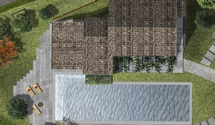 Farmhouse with pool in the hills: Plan