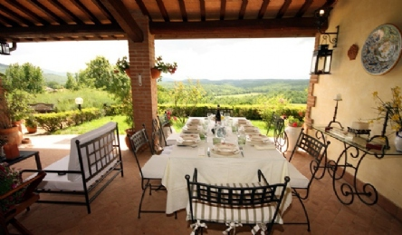 Luxury villa on the hills of Umbria: Outside view