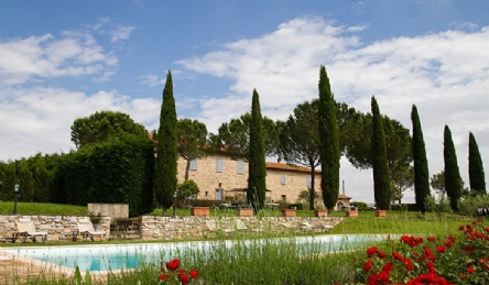 Tuscan farmhouse with vineyard: Outside view