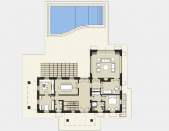Newly built villa with swimming pool: Plan
