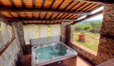 Tuscan villa with pool: Outside view