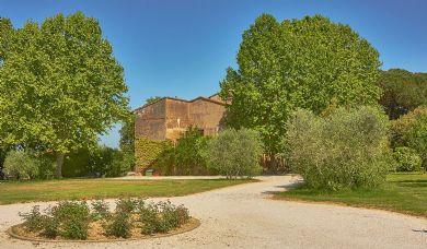 Casale toscano in vendita vicino a Pisa con vigneto, cantina e parco: Vista esterna