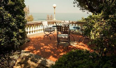 Villa for sale in Castiglioncello with panoramic terraces and private beach: Outside view