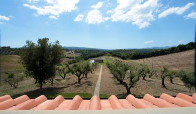 Beautiful villa for sale in Massa Marittima with pool and olive grove: Double room