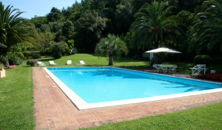 Renovated ancient farmhouse with pool: Outside view