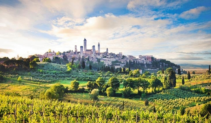 luxury bed and breakfast in San Gimignano: Outside view