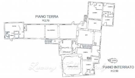 Casale farmhouse in Tuscany: Plan