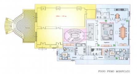 Lungarno Vespucci 2 appartamenti: Planimetria