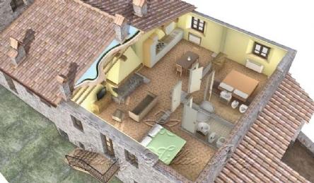 Tuscan village: Plan
