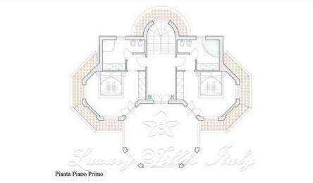 New villa for sale in Forte dei Marmi near the sea: Plan
