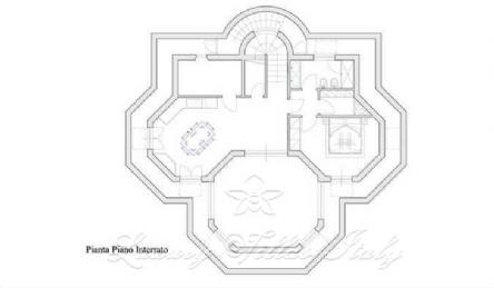 Nuova villa in vendita a Forte dei Marmi vicino al mare: Planimetria