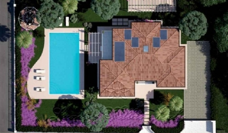 Modern new villa with pool: Plan