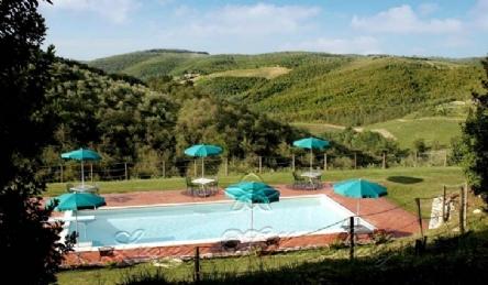 Вилла с парком в деревне тосканы кьянти с виноградником: Наружный вид