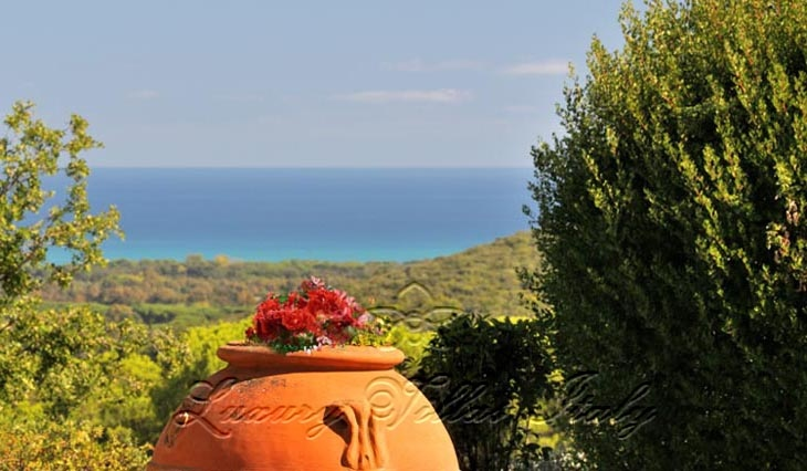 Tuscan villa with private beach: Outside view