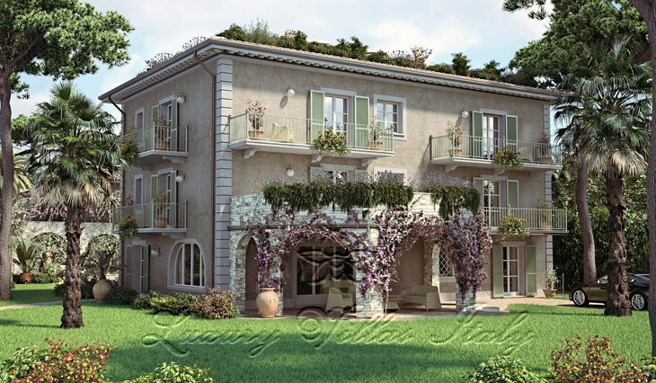 Villa with swimming pool for sale in the center of Forte dei Marmi: Outside view