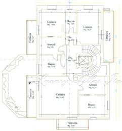 Вилла с бассейном в продаже в центре Форте дей Марми: Планировка