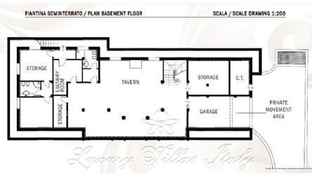 Новая вилла с бассейном в продаже в Форте дей Марми: Планировка