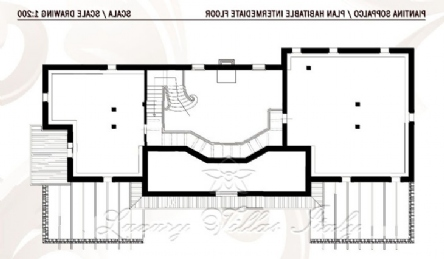 New villa for sale in Forte dei Marmi with swimming pool: Plan