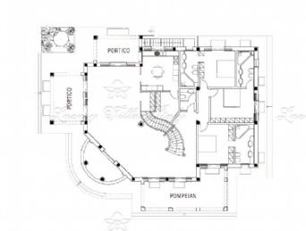 new villa in Forte dei Marmi - Roma Imperiale: Plan