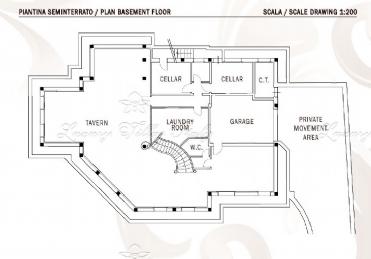 Nuova villa a Roma Imperiale: Planimetria