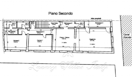 Apartment overlooking the Grand Canal and the Rialto Bridge: Plan