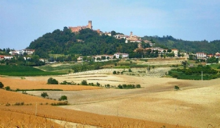 Magnificent medieval castle in the hills of Monferrato: Outside view