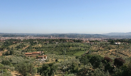 Prestigious villa for sale in Florence with panoramic views: Outside view
